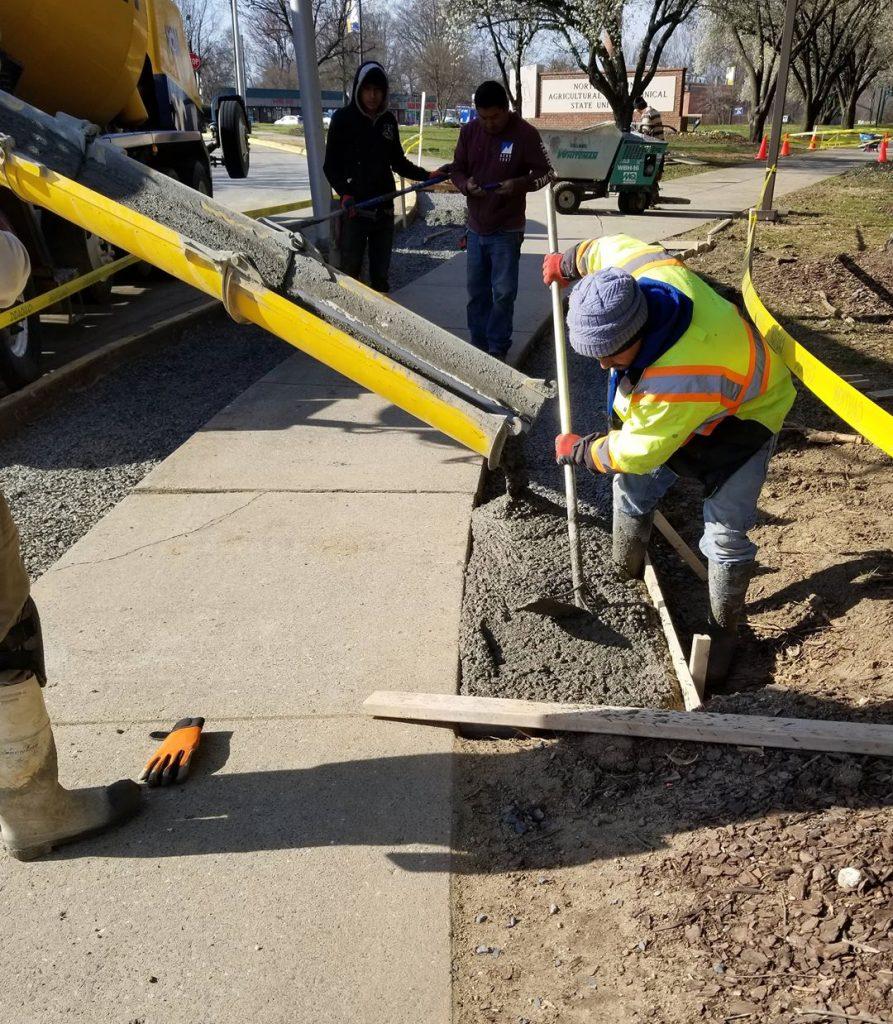 Martin Enterprise LLC NC Commercial & Residential Construction- sidewalk construction